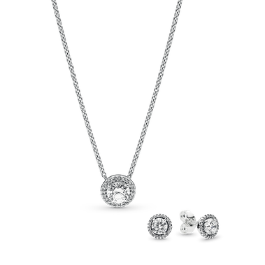 Classic Elegance Silver Earring & Necklace Gift Set