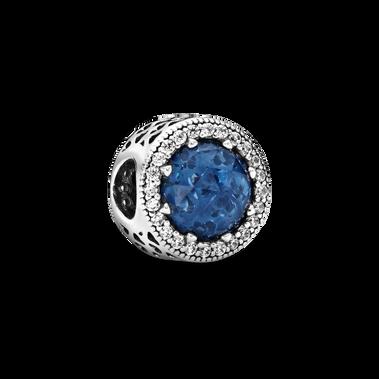 Sparkling Dark Blue Charm