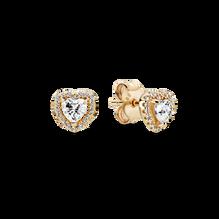 Elevated Heart Stud Earrings