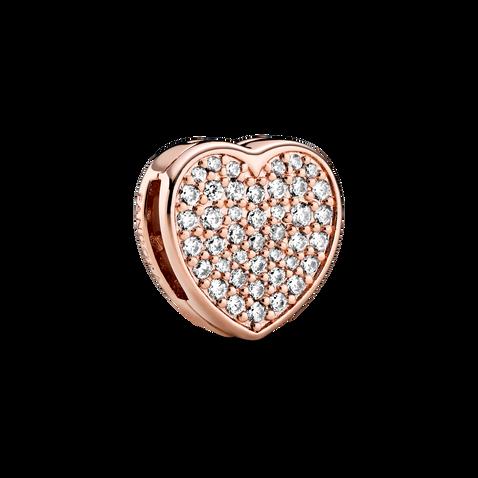 Pavé Heart Clip