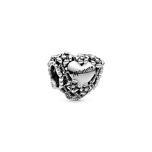 Openwork Flower Heart Mummy Charm