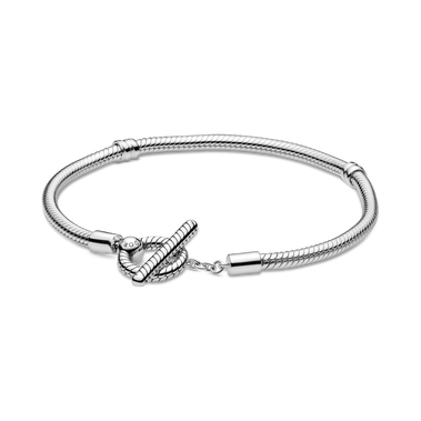 Pandora Moments T-Bar Snake Chain Bracelet
