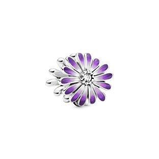 Purple Daisy Charm