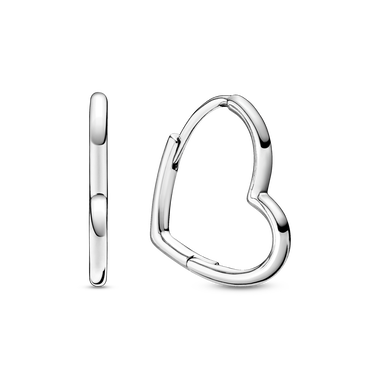 Asymmetrical Heart Hoop Earrings