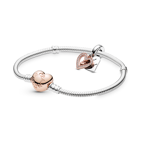 Pandora Rose Heart Bracelet Gift Set