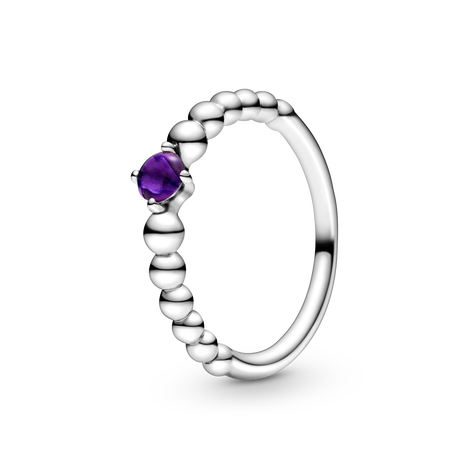 Purple Beaded Ring