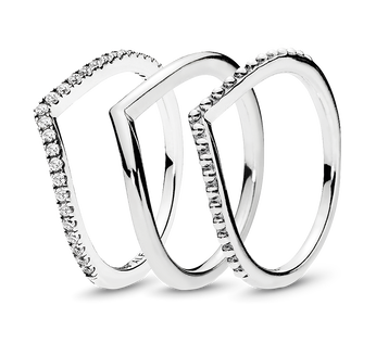 Wish Bone Ring Stack