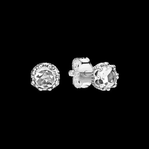 Sparkling Crown Stud Earrings