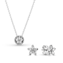 Sparkling Snowflake Necklace & Earring Gift Set