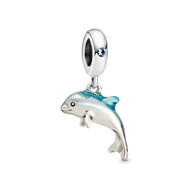 Shimmering Dolphin Dangle Charm