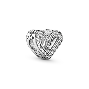 Sparkling Freehand Heart Charm