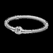 Pandora Moments Heart Infinity Clasp Snake Chain Bracelet