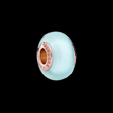 Matte Blue Murano Glass Charm