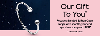 Receive a Limited Edition Open Bangle when you spend $180